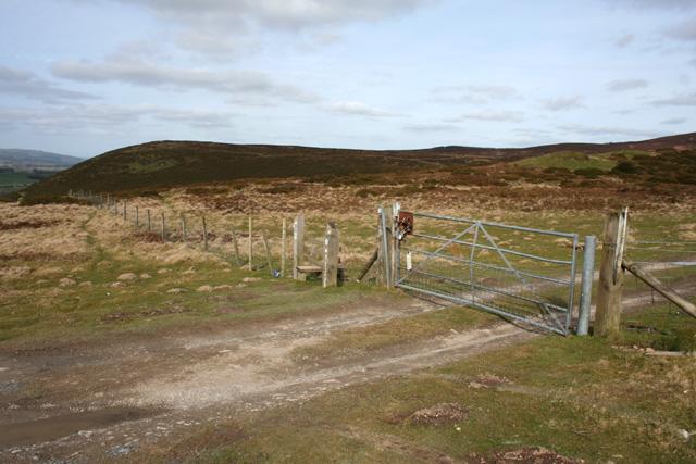 Gate and stile on Cyrn-y-Brain track