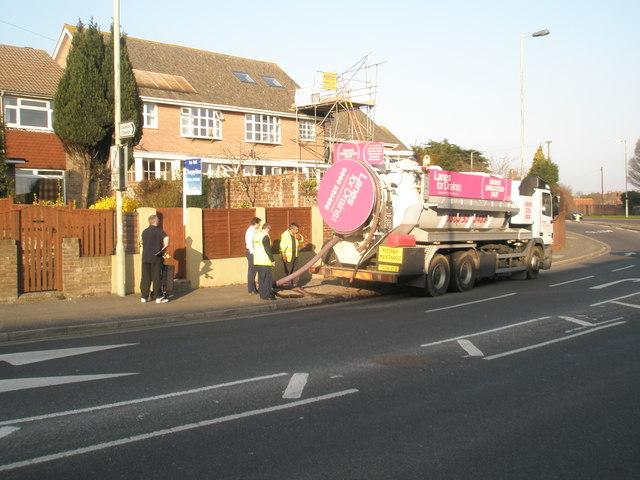 Blocked drain in Bedhampton Road