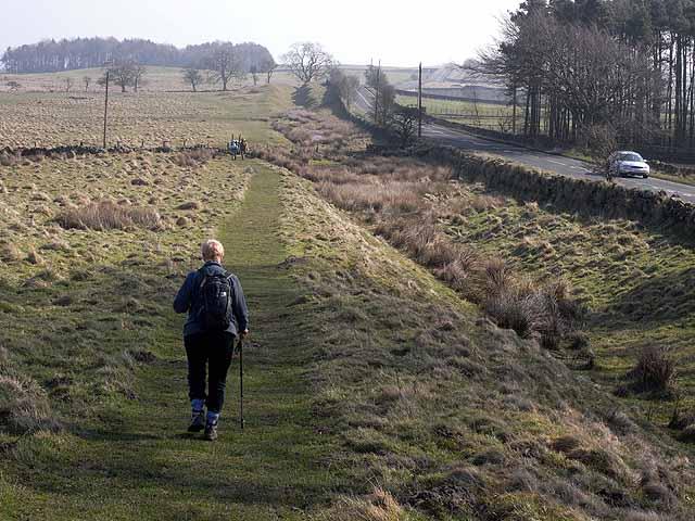 Hadrian's Wall National  Trail near Greenfield