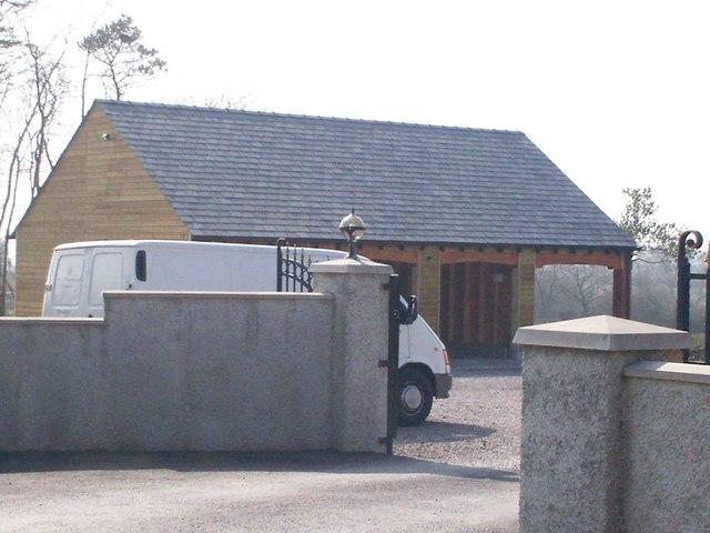 New Garages at Zoar Chapel of Rest, Llanteg