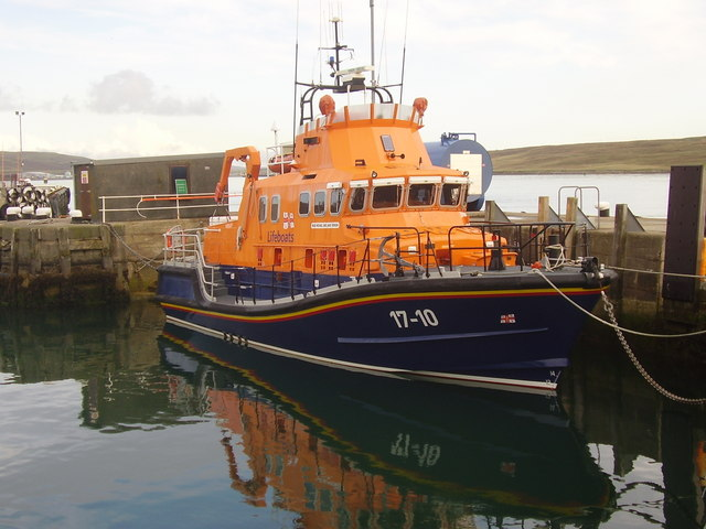 Lerwick lifeboat on station