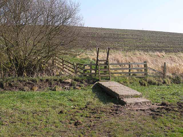 Footbridge and stile on the Hadrian's Wall National Trail
