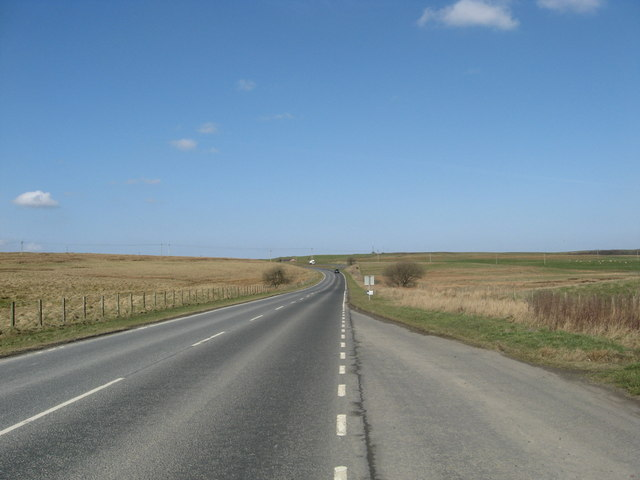 The A703 heading north