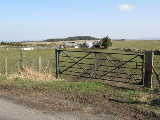 Gate on Cauldhall Moor