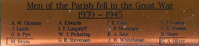 Donnington War Memorial WW2