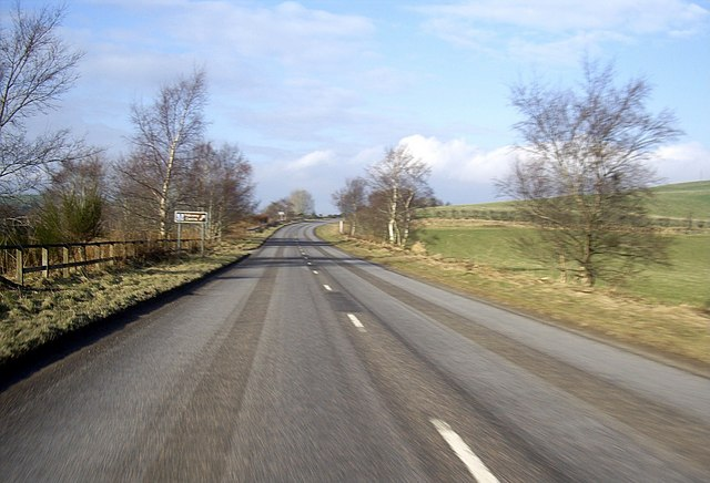 Approach to Drumdelgie junction on A920