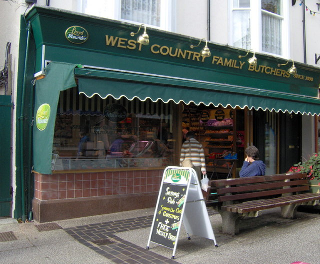 Butchers' shop, St Marychurch precinct