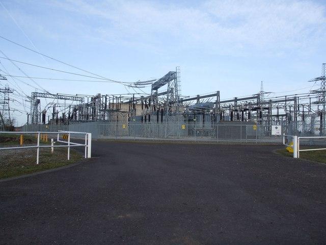 Keadby Powerstation Electricity sub-station