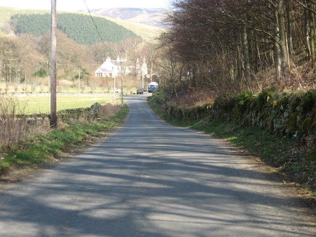 The minor road between Walkerburn and Elibank