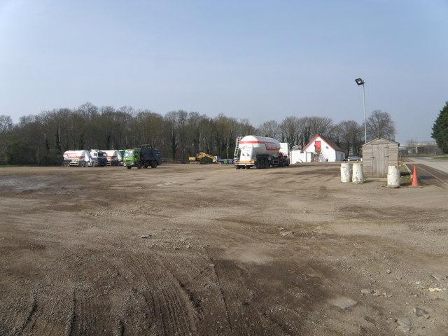 Lorry park at the Stibbington Diner