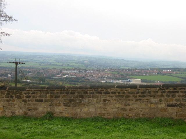 Looking down towards Darton