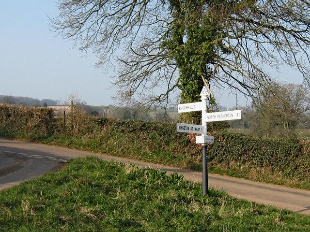 Road junction at Kingston Cross