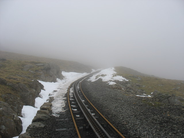 Snow in a cutting below Llechog Station