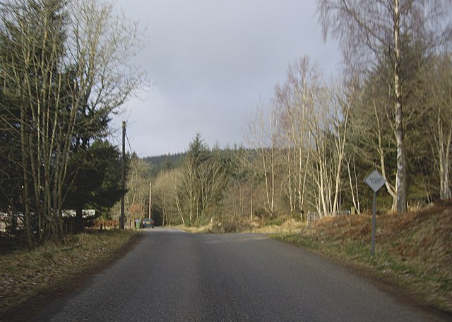 Passing place on narrow country road
