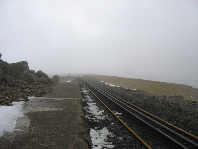View along the platform at Llechog Station