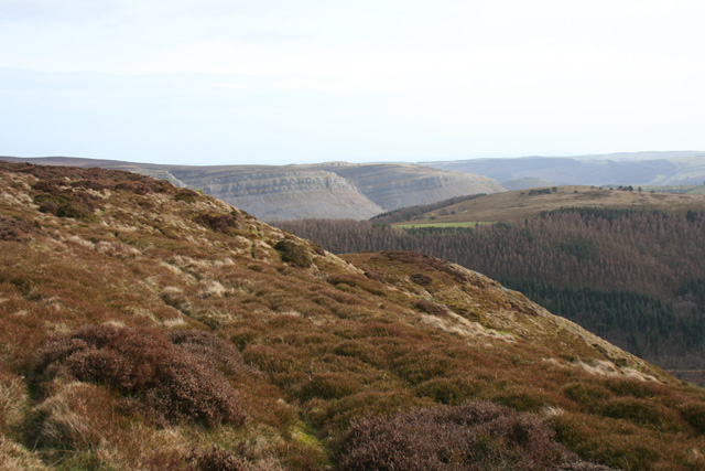 Moorland with a view towards Eglwyseg Edge