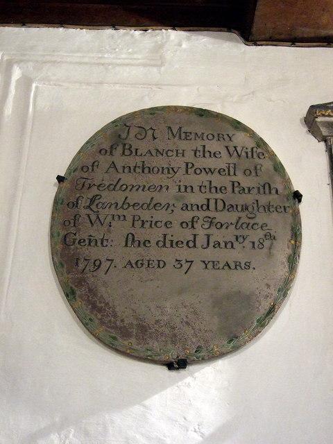 Partrishow church memorials (4)