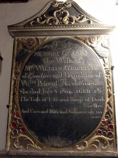 Partrishow church memorials (5)