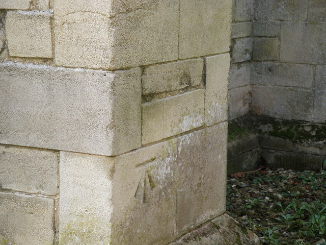 OSBench Mark on Stibbington Church