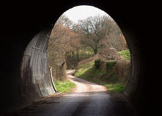 Through the tunnel, Chudleigh