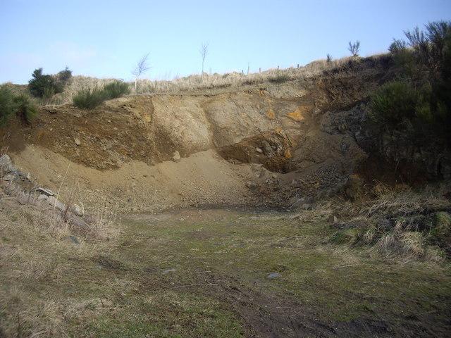 Roadside quarry