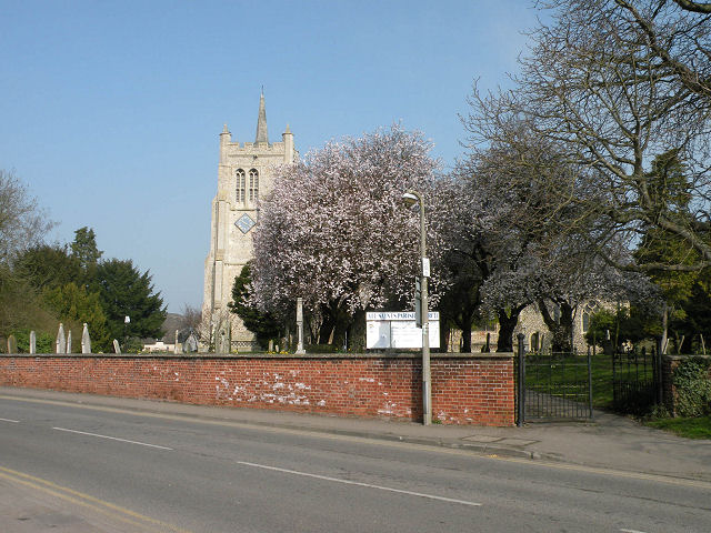 Spring blossom at All Saints' Church