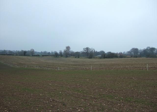 Farmland near the canal