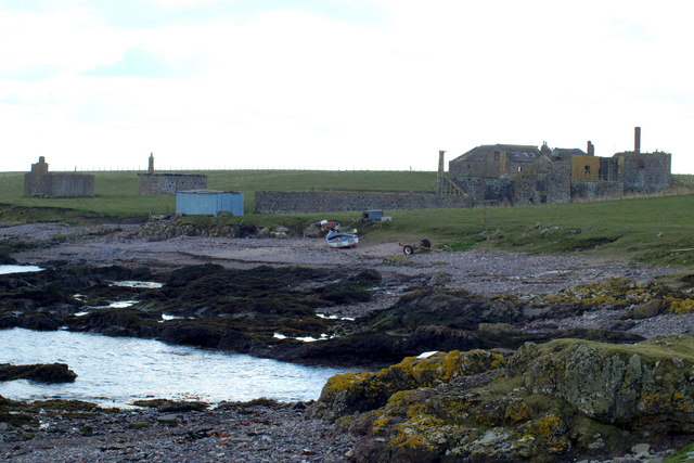 Chapel Mill Buildings, Usan near the sea shore
