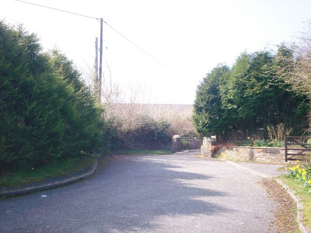 Side road to Hillcrest and The Downs, Llanteg