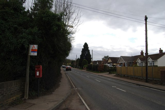 Bus Stop outside Red Lion House, A290