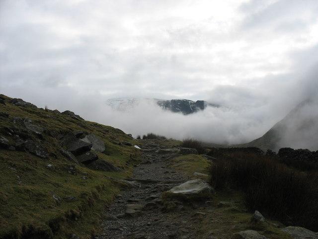 The Llanberis Path beyond the Mountain Gate