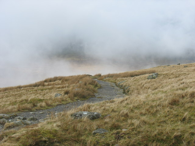 View back along the Llanberis Path