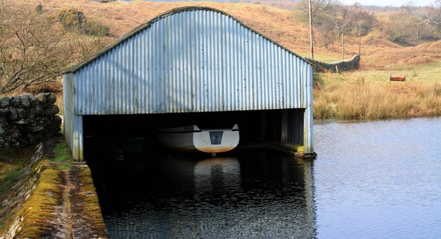 Boathouse on Ornockenoch Loch