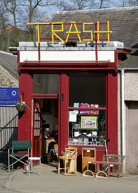 The trash shop in Galashiels