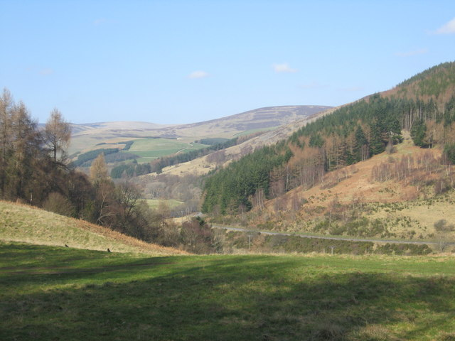 A view of Tweed Valley (or Tweeddale)