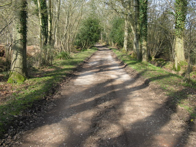 Footpath between Quay Copse and Holidays Copse