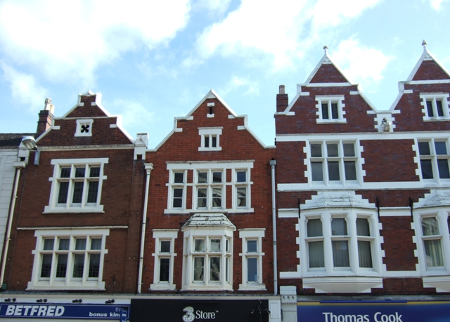 Red brick gables