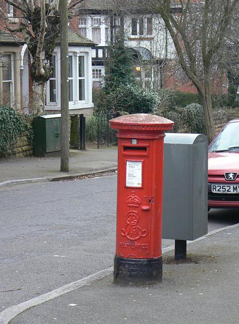 E VII R pillar box