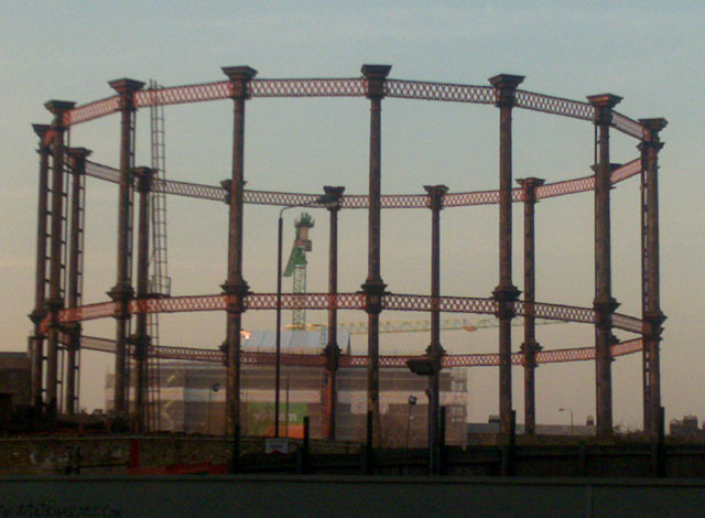 King's Cross Gas Holders and Crane