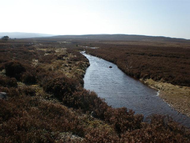 Leonach Burn Crossing Moorland