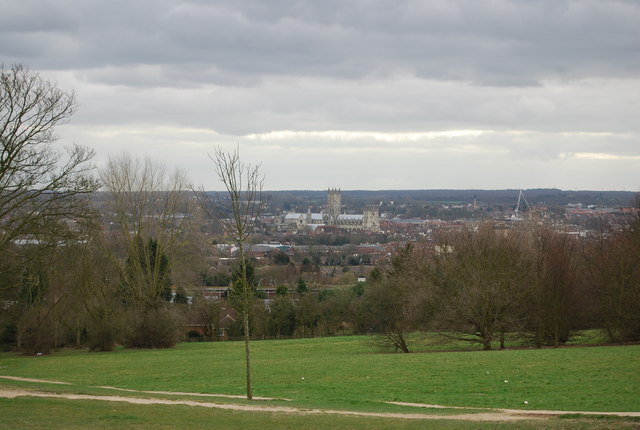 Canterbury Cathedral as seen from The University of Kent Campus