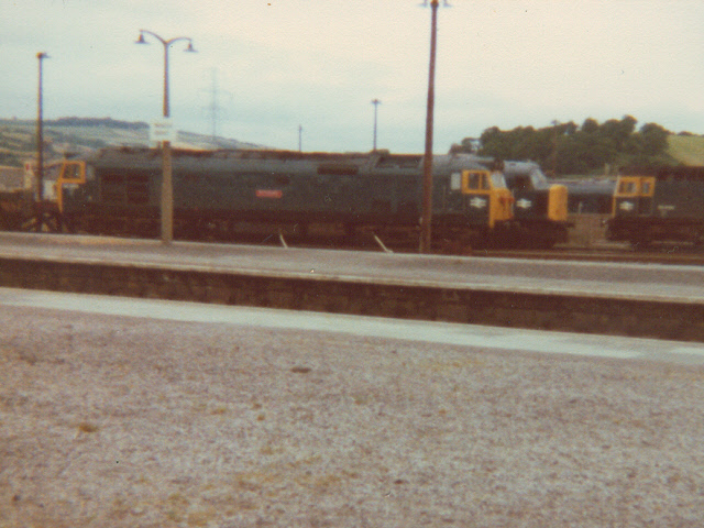 Diesel locomotives at the old Newton Abbot depot
