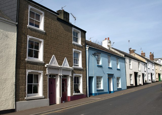 Houses on Old Exeter Street, Chudleigh
