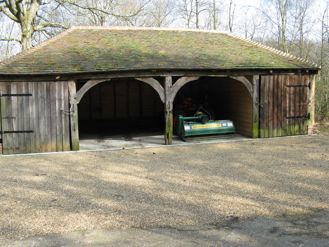 Big barn for big lawnmower