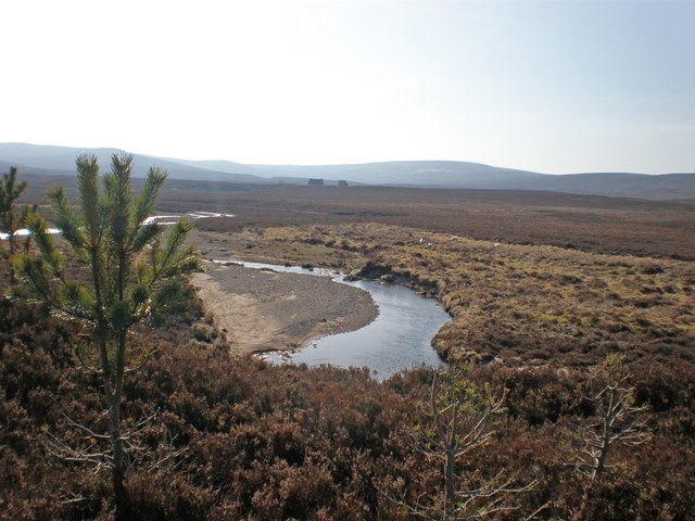 Looking over to Knockdhu across Leonach Burn