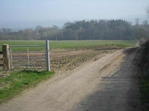 Farm track to Hatton Grove