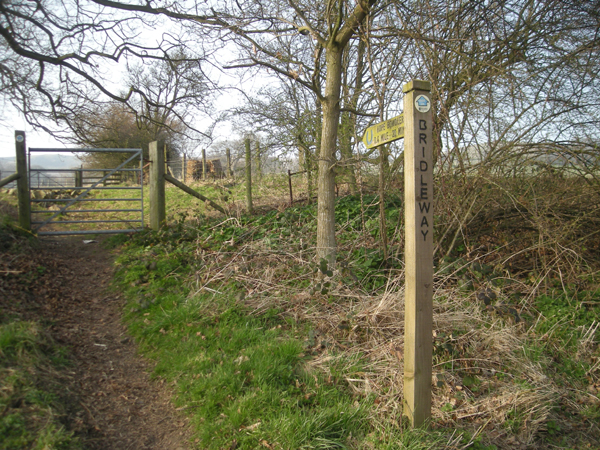 Bridleway to Hope Bowdler Hill