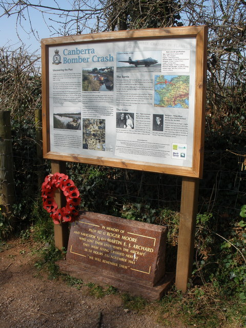 Site of RAF bomber crash, in 1961