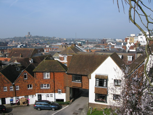 View over Guildford from the castle