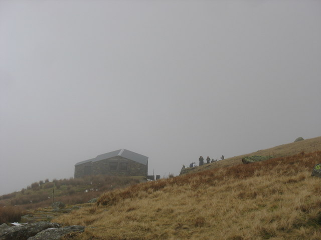 A busy mist-enveloped Halfway House
